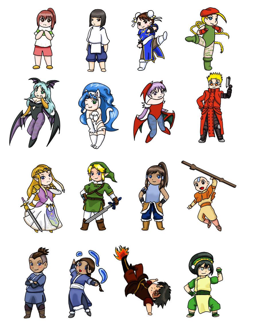 Anime Characters Chibi : Cute chibi anime characters car interior design