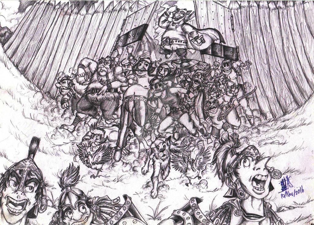 Attack on Romans by Hannara459