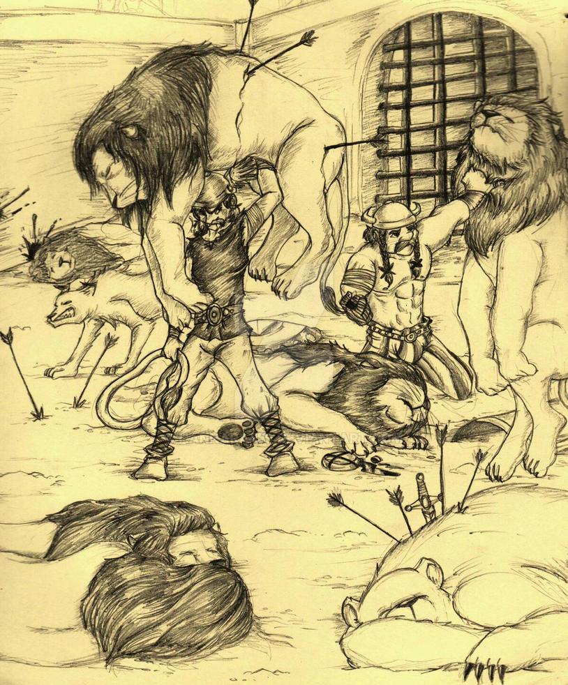 Battle Against the Lions by Hannara459