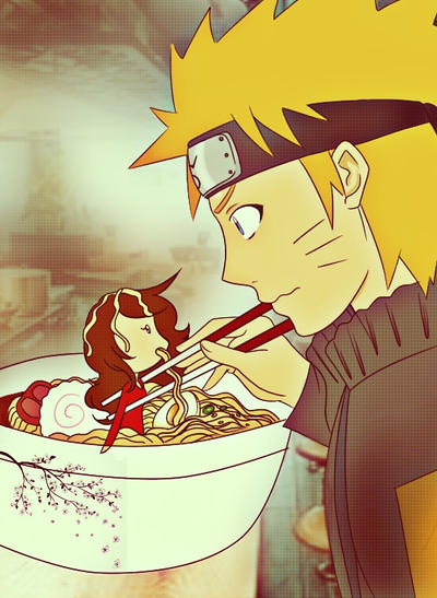 naruto eating ramen coloring pages - photo#27