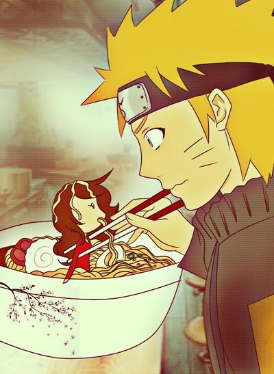 naruto eating ramen coloring pages - photo#10