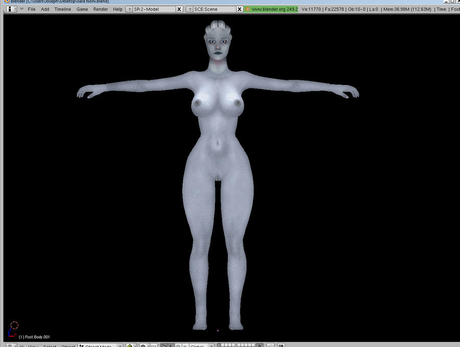 Liara T'Soni nude model wip by LoversLab