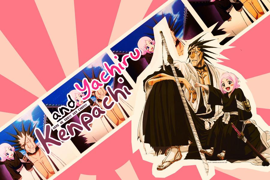 Wallpaper Kenpachi x Yachiru by 0Sora-kun0 on DeviantArt