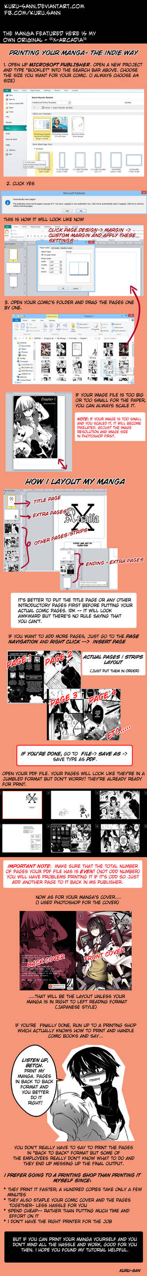 Printing your Manga- the Indie Way (How to)