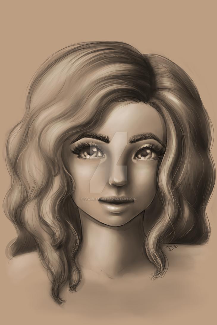 Sketch girl by DraskiasArt