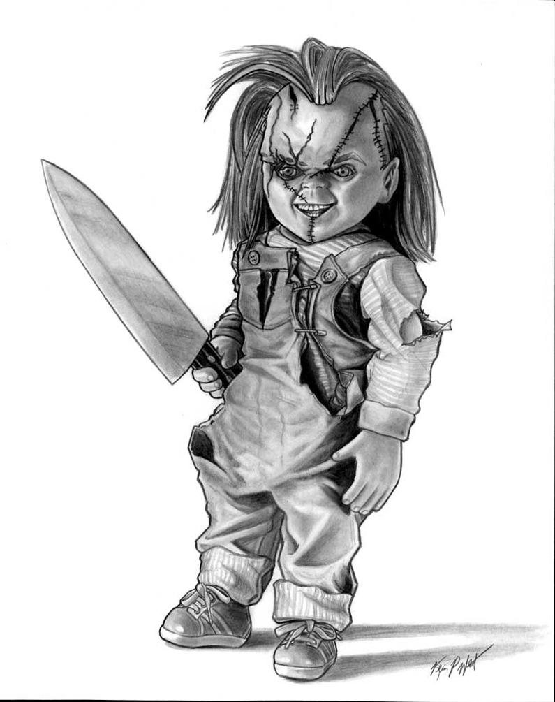 Chucky By FREAKCASTLE The Killer Doll Drawings