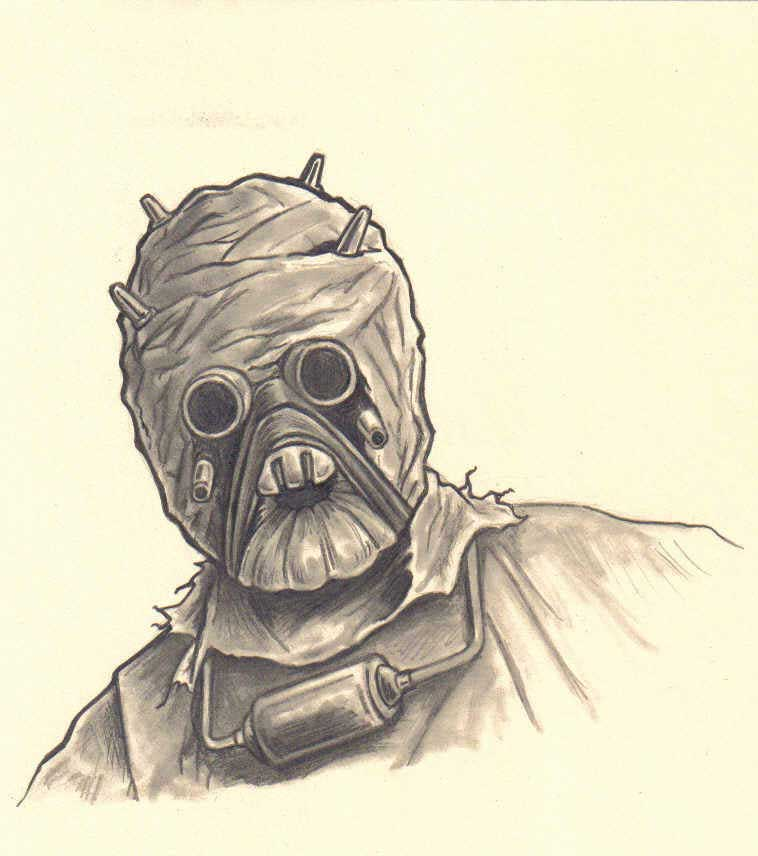 tusken raider sketch by FREAKCASTLE