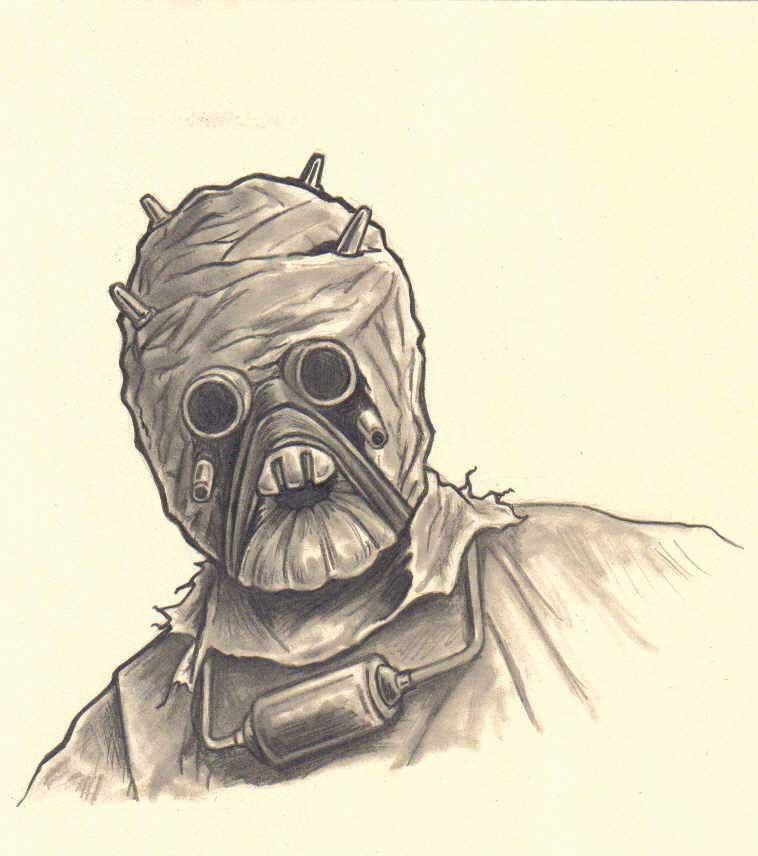 tusken raider sketch by FREAKCASTLE