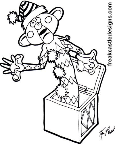 misfit toys coloring pages - charlie in the box by freakcastle on deviantart