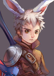 My DRAGON NEST Character - Barbarian class by Himenyuu