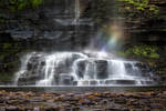 Rainbow in Harrison Wright Falls - Ricketts Glenn