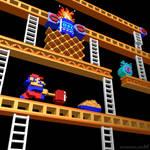 Inside Donkey Kong stage 2