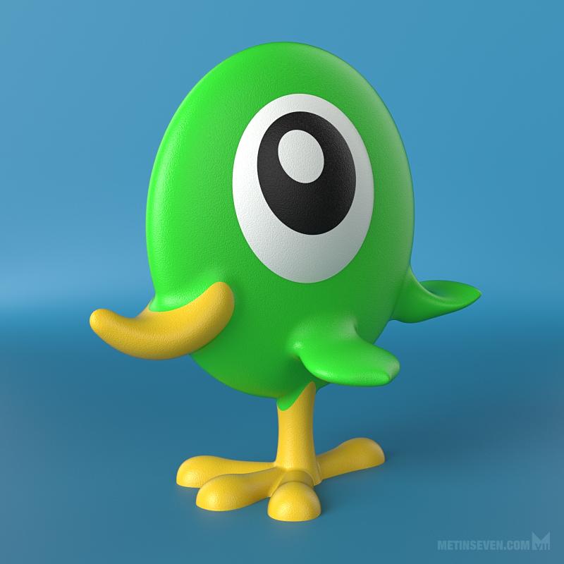 Flatbird toy design by m7