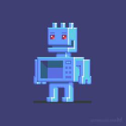 Magnetron robot character design