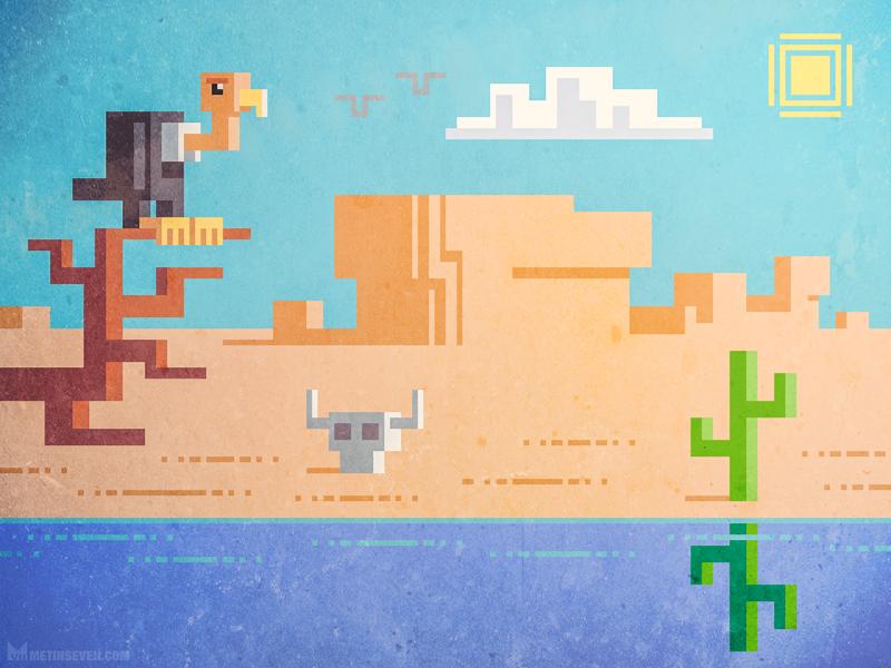 Pixel desert by m7