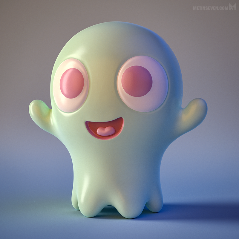 Boo-Boo - cute little ghost toy figure design. by m7