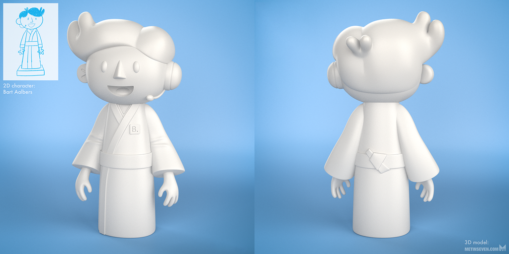 3D print model from 2D character by m7