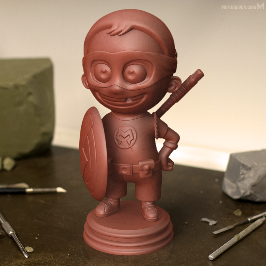 Superkid 3D print model by m7