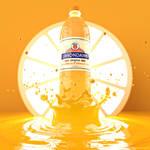 Limondaine lemonade bottle packshot by m7