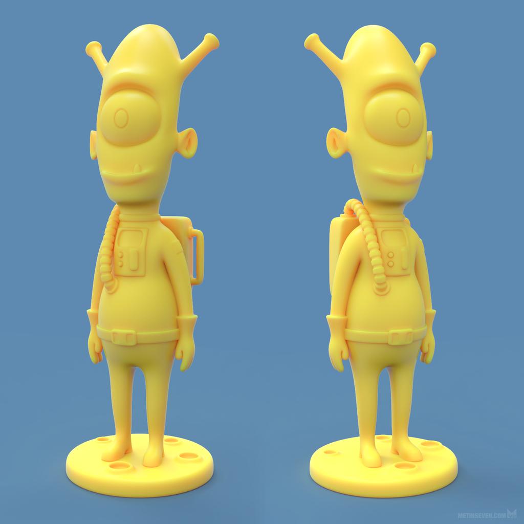 Alien 3D print model by m7