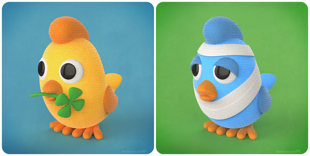 Crocheted bird character designs by m7
