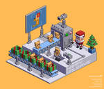 Happy Holidays (isometric pixel art version)