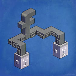The powerful tentacles of Facebook - pixel art by m7