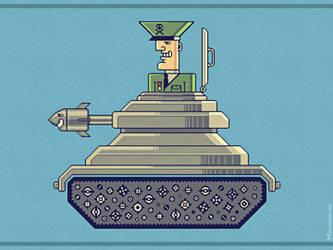 General Mayhem - cartoony vector character design by m7