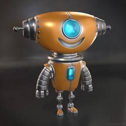 Cute little 3D robot character design by m7