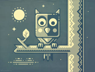 Night owl fairy-tale character design by m7