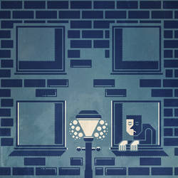 Loneliness - stylized vector illustration by m7