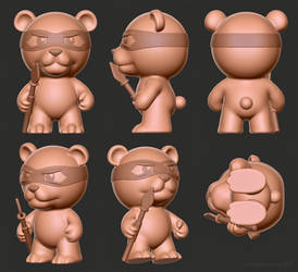 Bear toy model for a collectibles producer by m7
