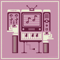 Retro electronic music maker by m7