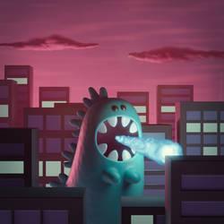Godzilla 3D artwork by m7