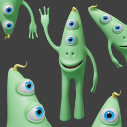 Bix the friendly alien character by m7