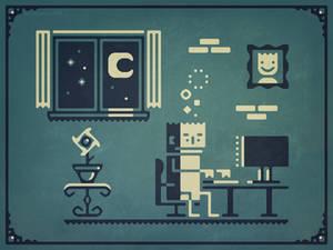 Screenstruck - Stylized graphic illustration