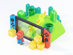 Making the Switch 3D illustration featuring Mario