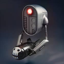 Bombot war drone character design