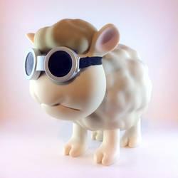 The final Seamour Sheep designer vinyl toy