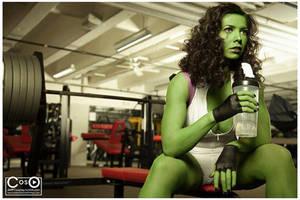 Margie Cox as She-Hulk by moshunman