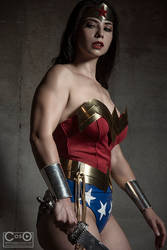 Wonder woman ready for battle
