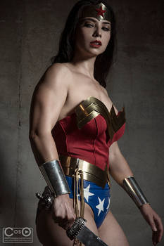 Wonder woman ready for battle