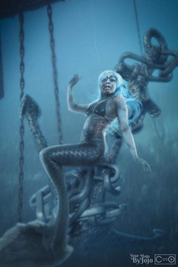 Zombie Mermaid by moshunman