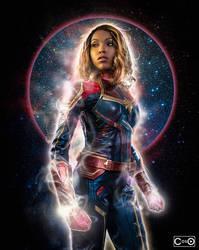 CutiePieSensei Captain Marvel by moshunman