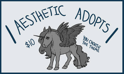 Aesthetic Adopts- 'meet your new pony' -CLOSED-