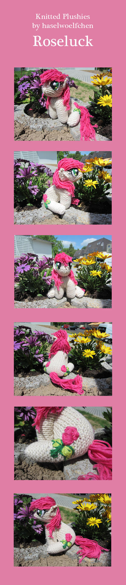 Knitted Plushies - Roseluck by haselwoelfchen