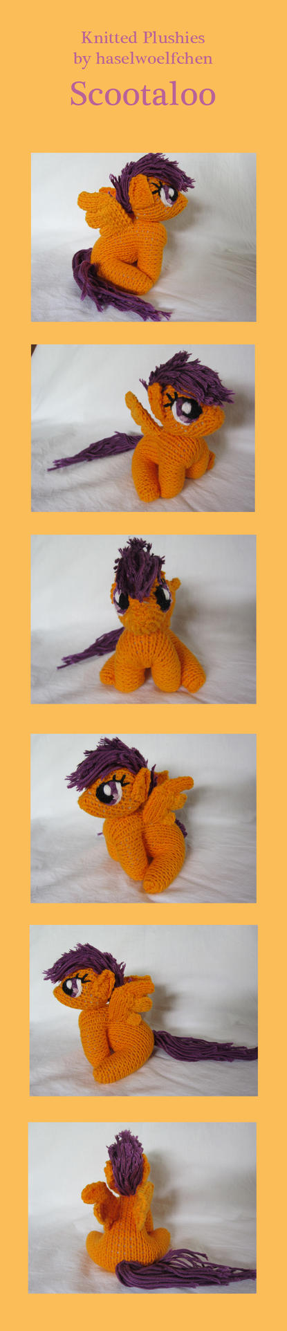 Knitted Plushies - Scootaloo by haselwoelfchen