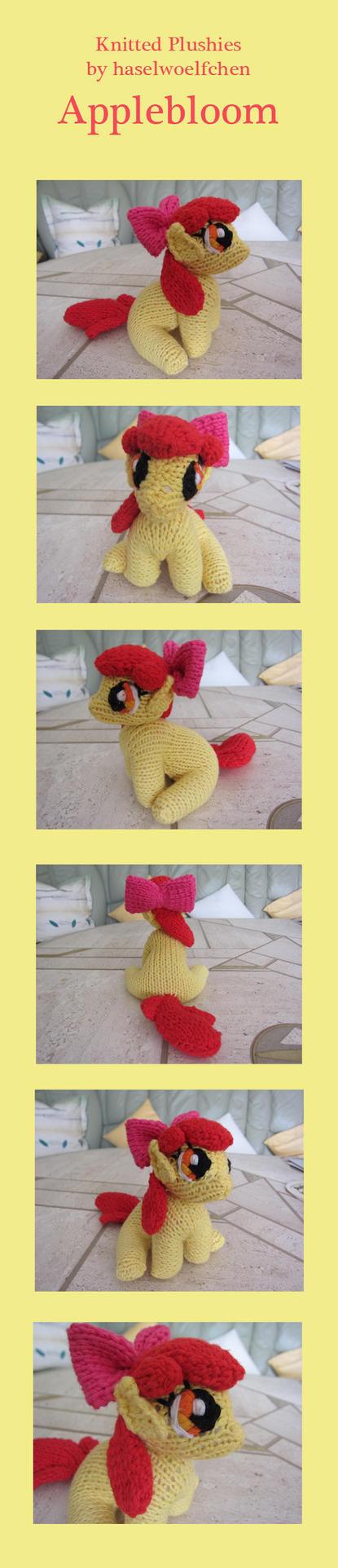 Knitted Plushies - Applebloom by haselwoelfchen