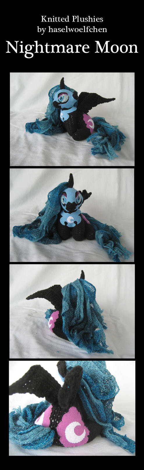 Knitted Plushies - Nightmare Moon by haselwoelfchen