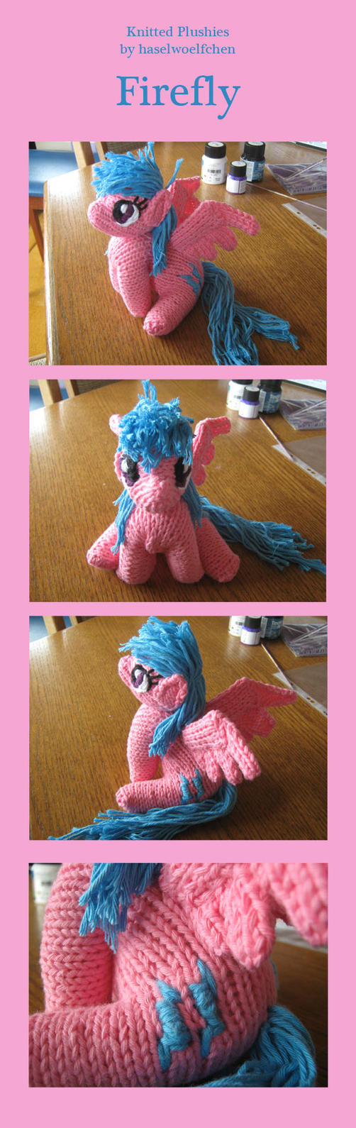 Knitted Plushies - Firefly by haselwoelfchen